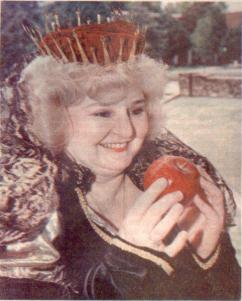 Me as Queen in Snow White - cover of Sunday Magazine section